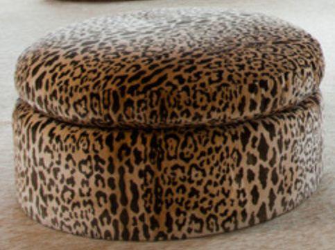 Ottoman •~• leopard print storage - 34 Best Images About Ottomans, Poufs, & Stools On Pinterest