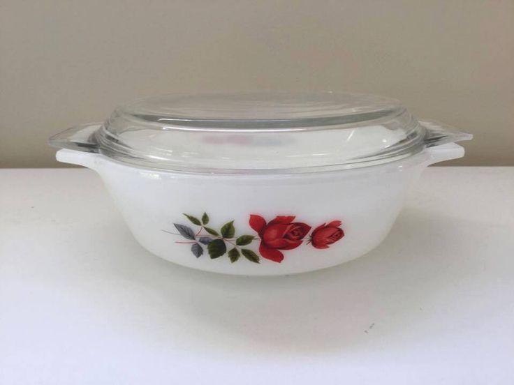 Vintage Pyrex June Rose small casserole - $15