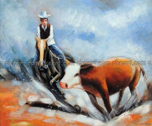 Купить товарРучная роспись ковбой дикий западный резка лошадь минипогрузчик крупный рогатый скот масло на картина на холсте украшение в категории Рисование и каллиграфияна AliExpress.                            Покупатели искусства Современные Абстрактный пейзаж...