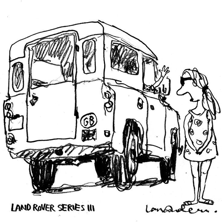 Land Rover Series III. Brexit. By Lars Andersen