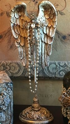 Michelle Butler Designs Cross With Angel Wings SHOP www.crownjewel.design