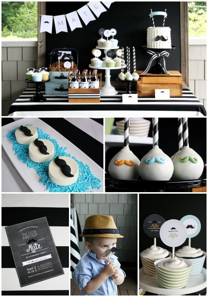 So Many Great Party Ideas At This Little Mister Mustache Bash Love The Mutache Birthday Cake Pops And All Decorations