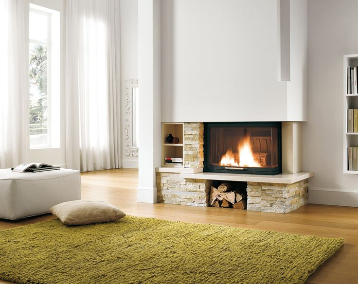 Palazzetti inset woodburner stove available from Eco Fire Stoves