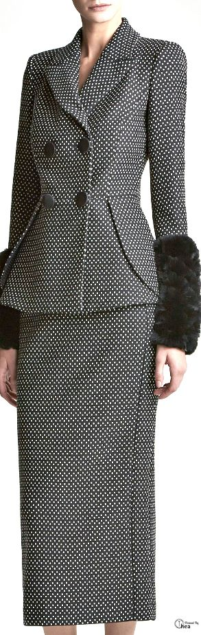 Emporio Armani ● Pre-Fall 2014  I wonder if the furry things are removeable? (For when you get too hot!)