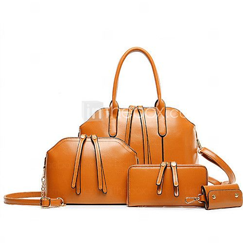 Noble Women's Fashion Solid Color Four-Pieces Bag - USD $23.99