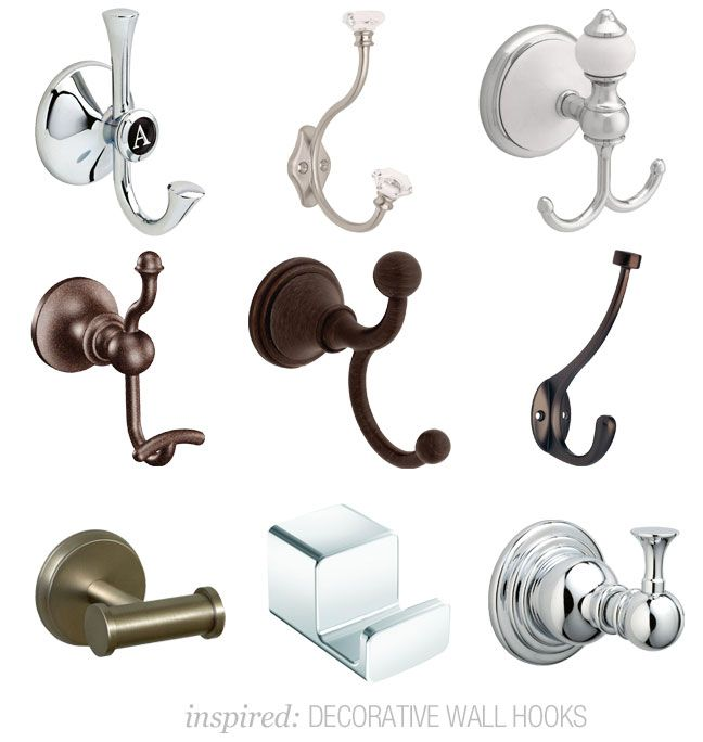 Decorative Bathroom Wall Hooks : Best images about foyer on