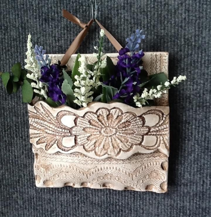 Lg. Square with inlaid lace