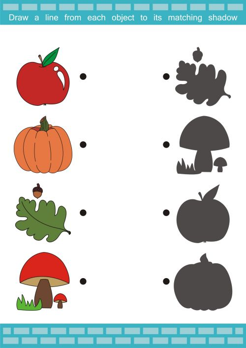 Perfect for autumn, this free printable activity sheet is ideal for young learners. Have your student name all the autumn pictures on the page, and then see if they can match the image to its shadow. What other autumn vocabulary does your child know?