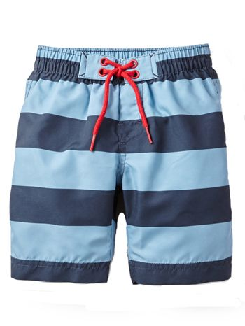Tea Collection Deep Sea Stripe Board Shorts available at www.tinysoles.com! #TinySoles