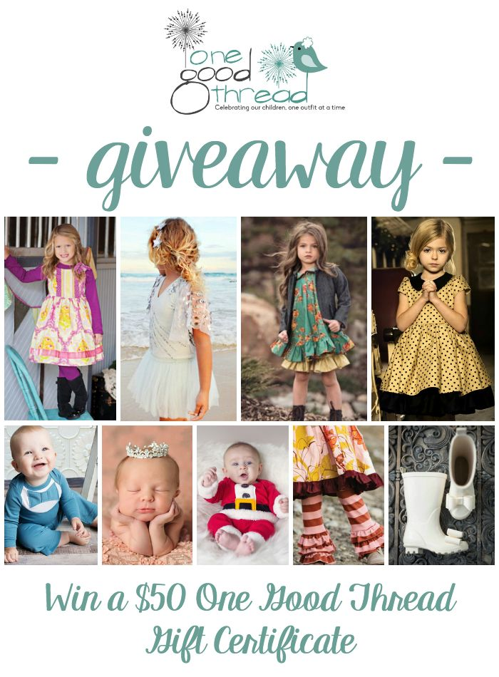 Check out One Good Thread for unique and distinctive kid's clothing, plus a Giveaway!