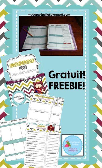 Freebie - Cahier de planification en français