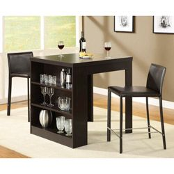 I am going to try and make this... love it and i need a table to go with my bar stools!:  Boards, Dining Rooms, Idea, Counter Height Tables, Bar Tables, Hollow Cor, Kitchens Tables, Small Spaces, Dining Tables