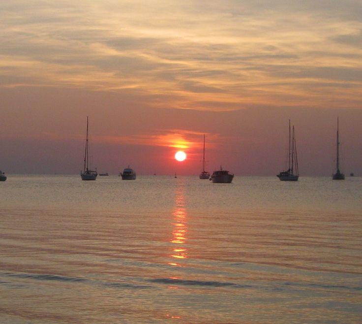 Sunset from San Antonio Bay Ibiza