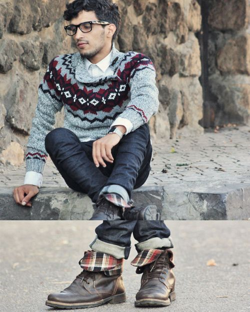 sweater and bootsMarko Style, Sweaters, Men Style, Style Pinboard, Fair Isle