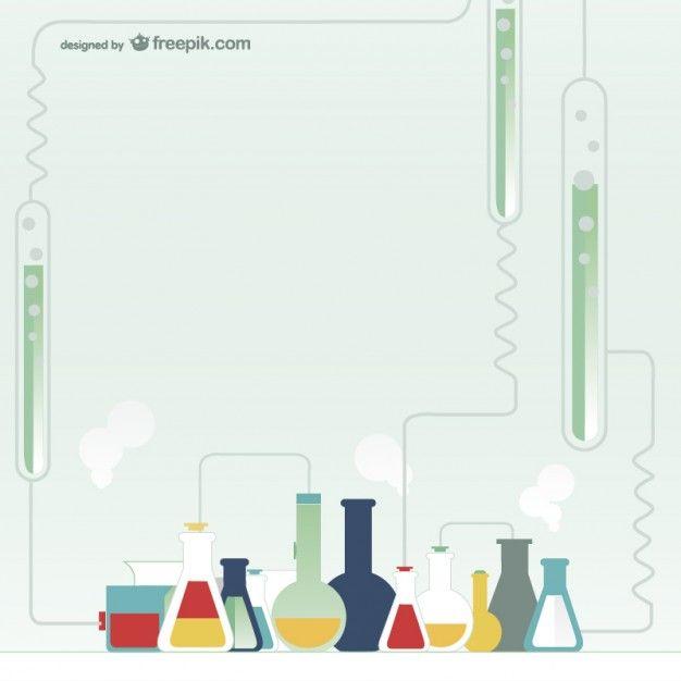 Química de vectores de teste de laboratório Vetor grátis