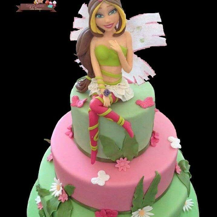Cake winx flora