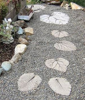 I love this idea.  I just finished a walkway and wish i would have seen this pattern first..... dang