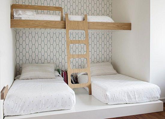 Habitación infantil compartida http://www.mamidecora.com/muebles-infantiles-bean-home.html