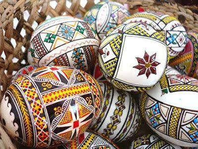 goûter le monde: Oeufs peints de Bucovine