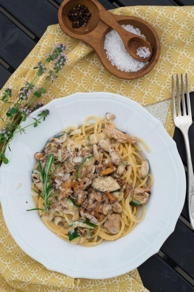 Wakacyjny makaron z kurkami i cukinią - Kuchnia Agaty - najsmaczniejszy blog kulinarny!