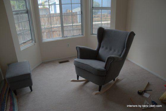 ikea hack strandmon rocker diy wingback rocking chair rocking chairs ikea hacks and armchairs. Black Bedroom Furniture Sets. Home Design Ideas