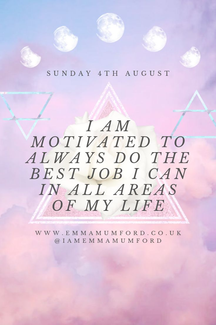 SUNDAY 4TH AUGUST 2019 | AFFIRMATION