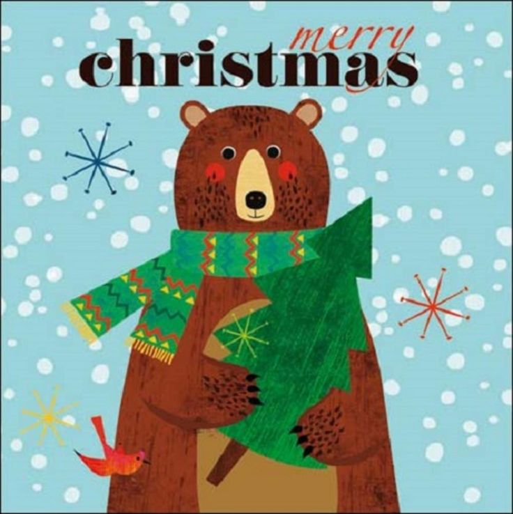 Pack of 5 Cute Bear Children With Cancer Charity Christmas Cards | Cards | Love Kates
