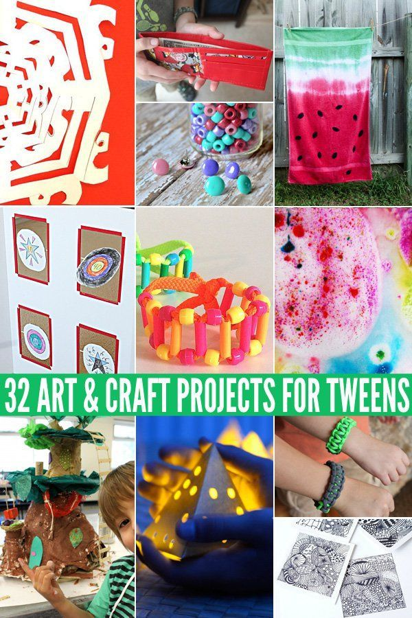 Looking for fun activity ideas to keep your tween busy? Here are 32 great art and craft projects your tween will love.