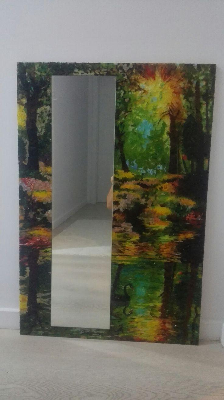 cam mozaik ayna / glass mozaic mirror
