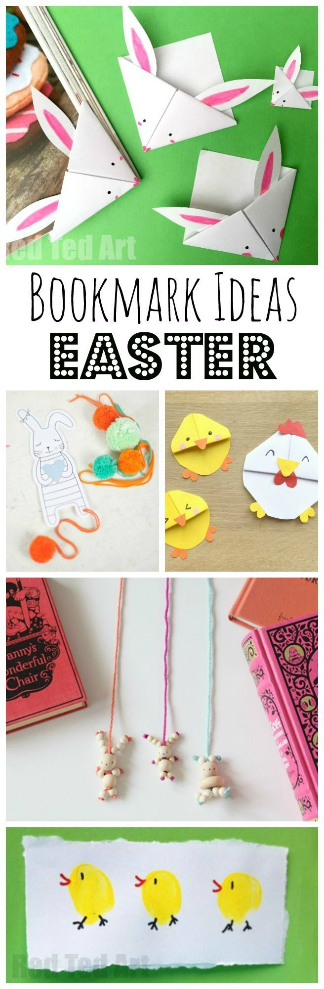 Easter Bookmark Crafts - if you love making your own DIY Bookmarks - whether it is Easter Corner Bookmarks or Fingerprint Bookmarks or getting a little help from Printables, you simply HAVE TO SEE these super duper cute Easter Bookmark Designs. They are s