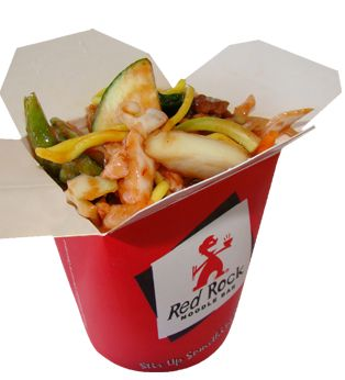 Sweet 'n' Sour Combo: Thick egg noodles with lean beef, roast pork, chicken breast & fresh vegetables with a sweet 'n' sour sauce.