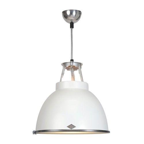 Original BTC Titan hanglamp wit/glas | LOODS 5