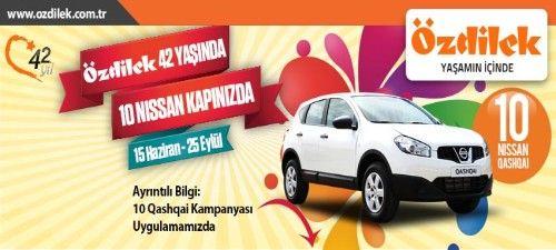 Özdilek Çekiliş Kampanyası - Özdilek Nissan Qashqai Çekilişi http://www.kampanya-tv.com/2013/06/ozdilek-cekilis-kampanyasi-ozdilek-nissan-qashqai-cekilisi.html