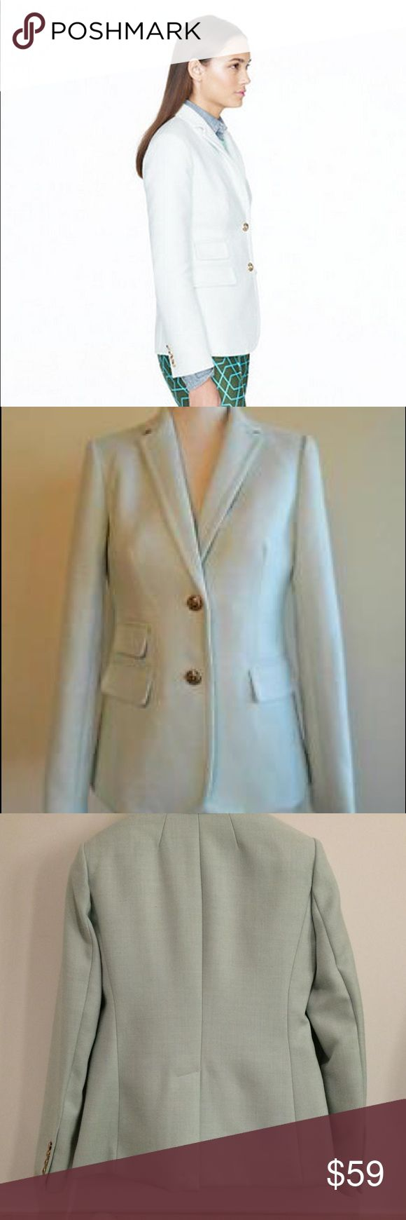 J. Crew Blazer Wool mint green blazer. Lovey spring color. Small. No flaws. Excellent condition! J. Crew Jackets & Coats Blazers