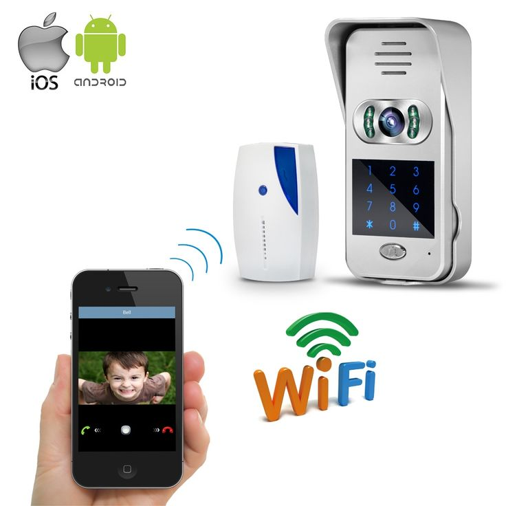 111.78$  Buy here - http://alib0v.worldwells.pw/go.php?t=32671250374 - Free Shipping Wireless Wifi Doorbell 720P Video Intercom Door Phone for Phone Remote View / Unlock Touch Code Keypad WHOLESALE