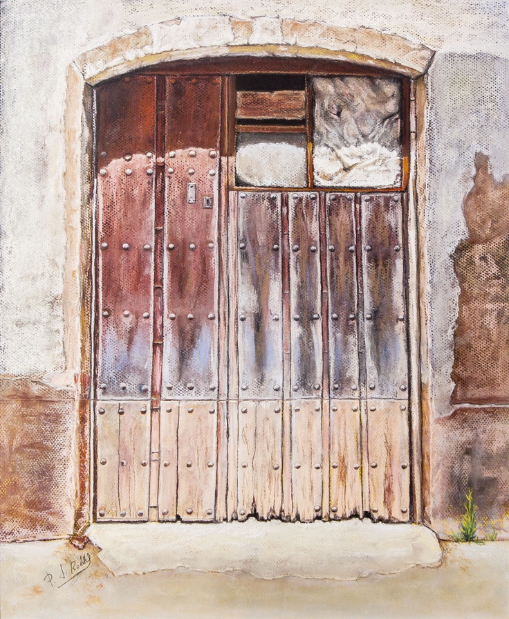 Pilar S. Robles. Puerta almacén de Andavías (Zamora). Pastel. 69X54