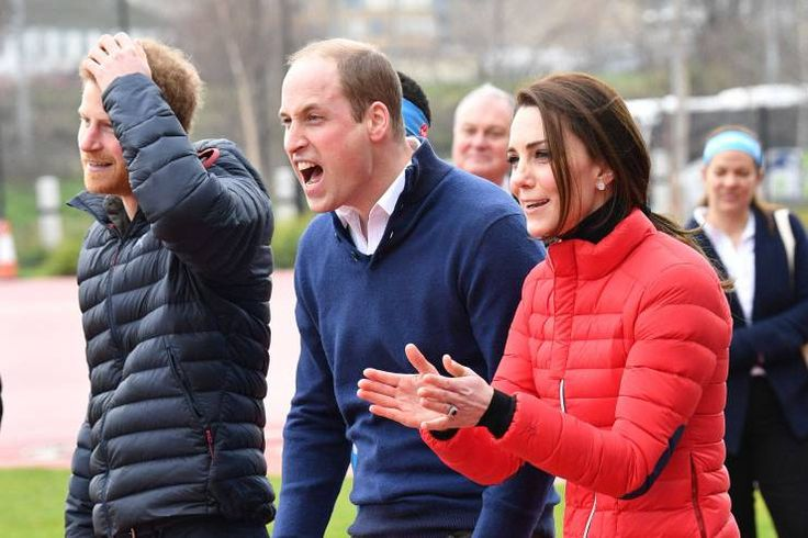 You Nearly Beat Me!' Prince William Jokes with Princess Kate at Charity Race Photo (C) GETTY IMAGES