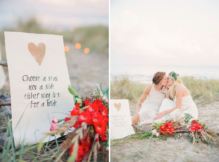 Rainbow wedding, 2 brides - quotes for wedding  Swedish wedding photographer Mathilda at Sweet Colorful Photography