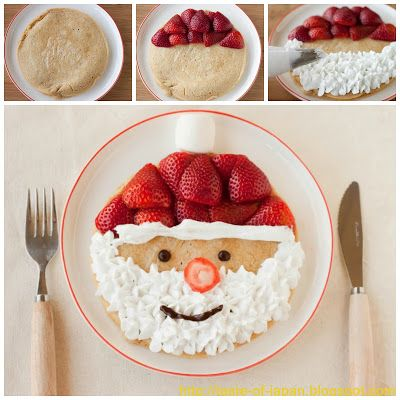 Santa Clause Pancakes...a fun Christmas Breakfast for the kids! #CKCrackingChristmas
