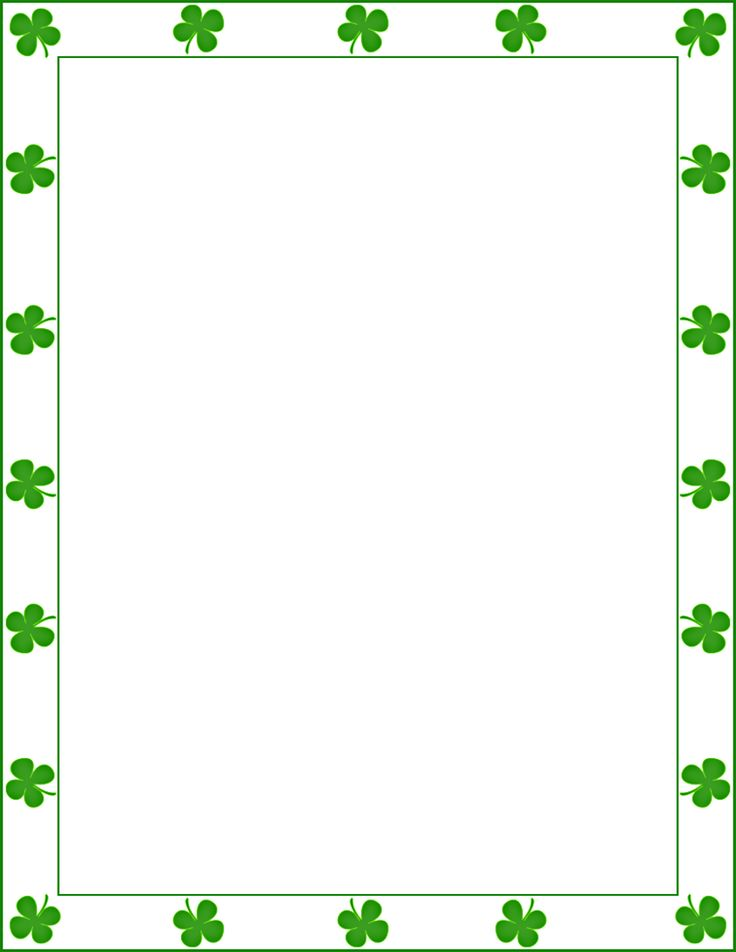 ... Pinterest | Saint patrick's day, Free printable and Borders and frames