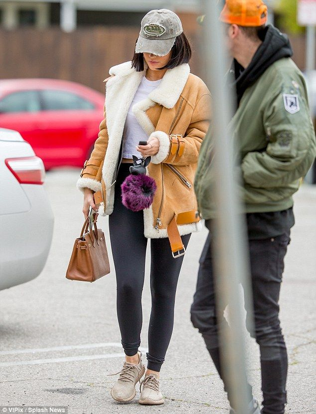 Representing: Despite her deal with Puma the star looked to be sporting a pair of Yeezy Boost 350 sneakers