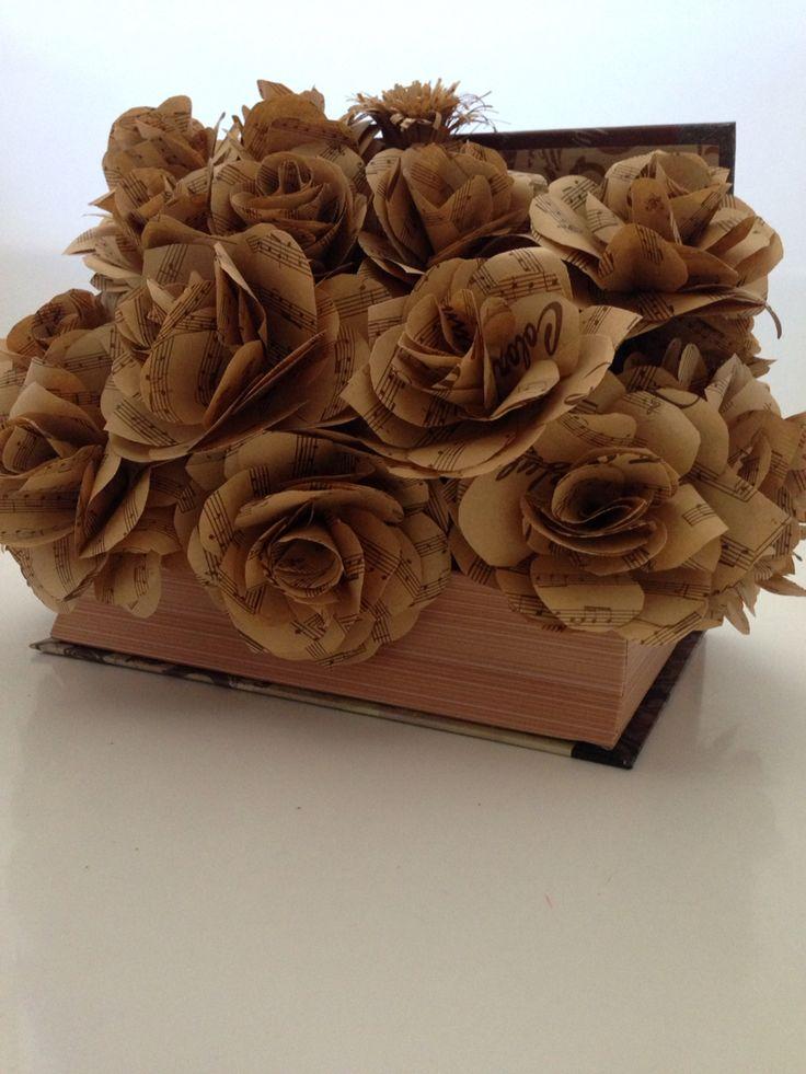 Am ales sa fac trandafiri cu note muzicale