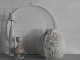 Shades of pale: still life styling in beautiful neutral textures and shapes. Styling by Lara Hutton, photographed by Jason Loucas #jasonloucas #larahutton #styling #stilllife #wood #wool #paper #stone