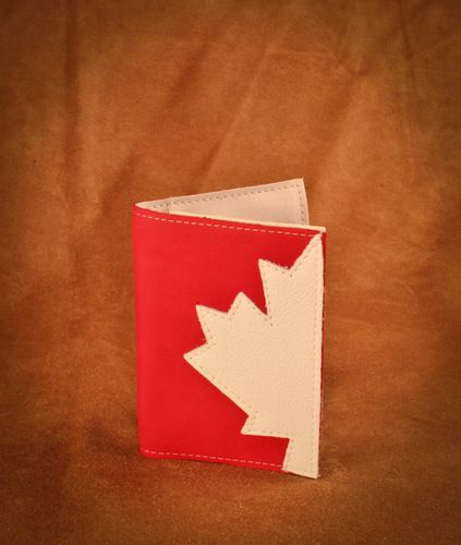 Deerskin Canadiana Passport holder. #leather #Canada #handmade #rockwood #ontario #like #daily #fashion #hidesinhand