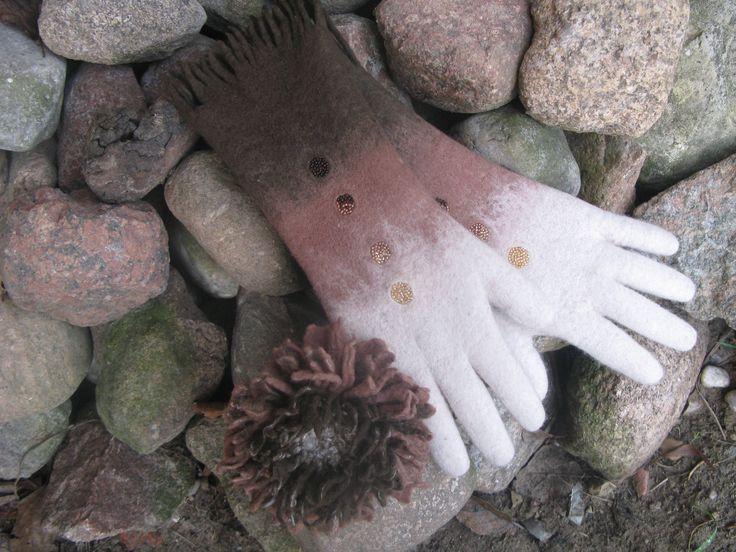 felted gloves,,,,
