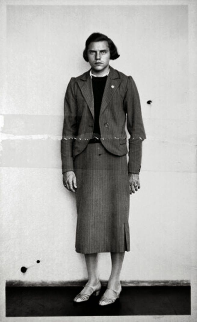 Dora Ratjen who had been arrested at a train station on suspicion of being a man in a dress. Magdeburg.