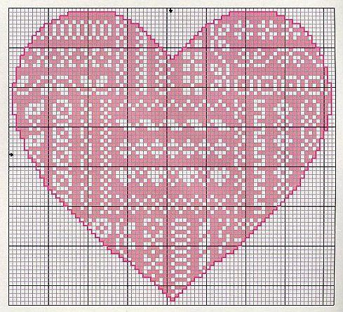 Gallery.ru / Фото #25 - Monocromatico - Blackwork - mantecada   Folklore Heart chart 5