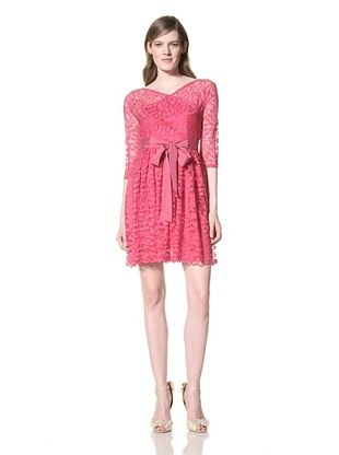 Alexia Admor Women's Flare 3/4 Sleeve Lace Dress With Grosgrain Belt