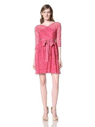 Alexia Admor Women's Flare 3/4 Sleeve Lace Dress With Grosgrain Belt