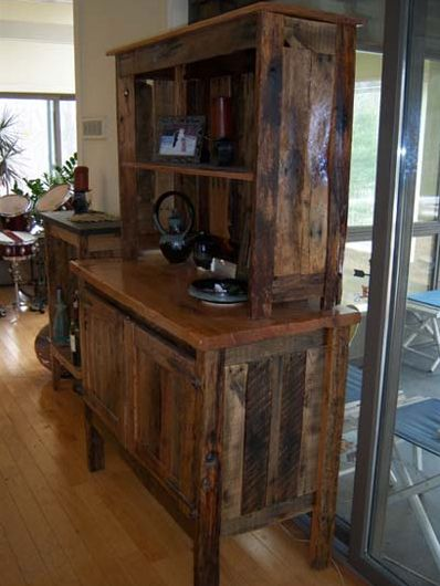 Repurposed pallets turned into works of art.